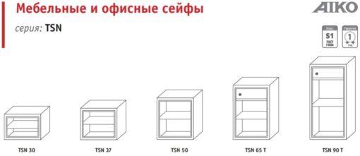 Макеты сейфов AIKO серии TSN