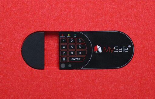 Клавиатура замка MySafe сейфа MSR Red